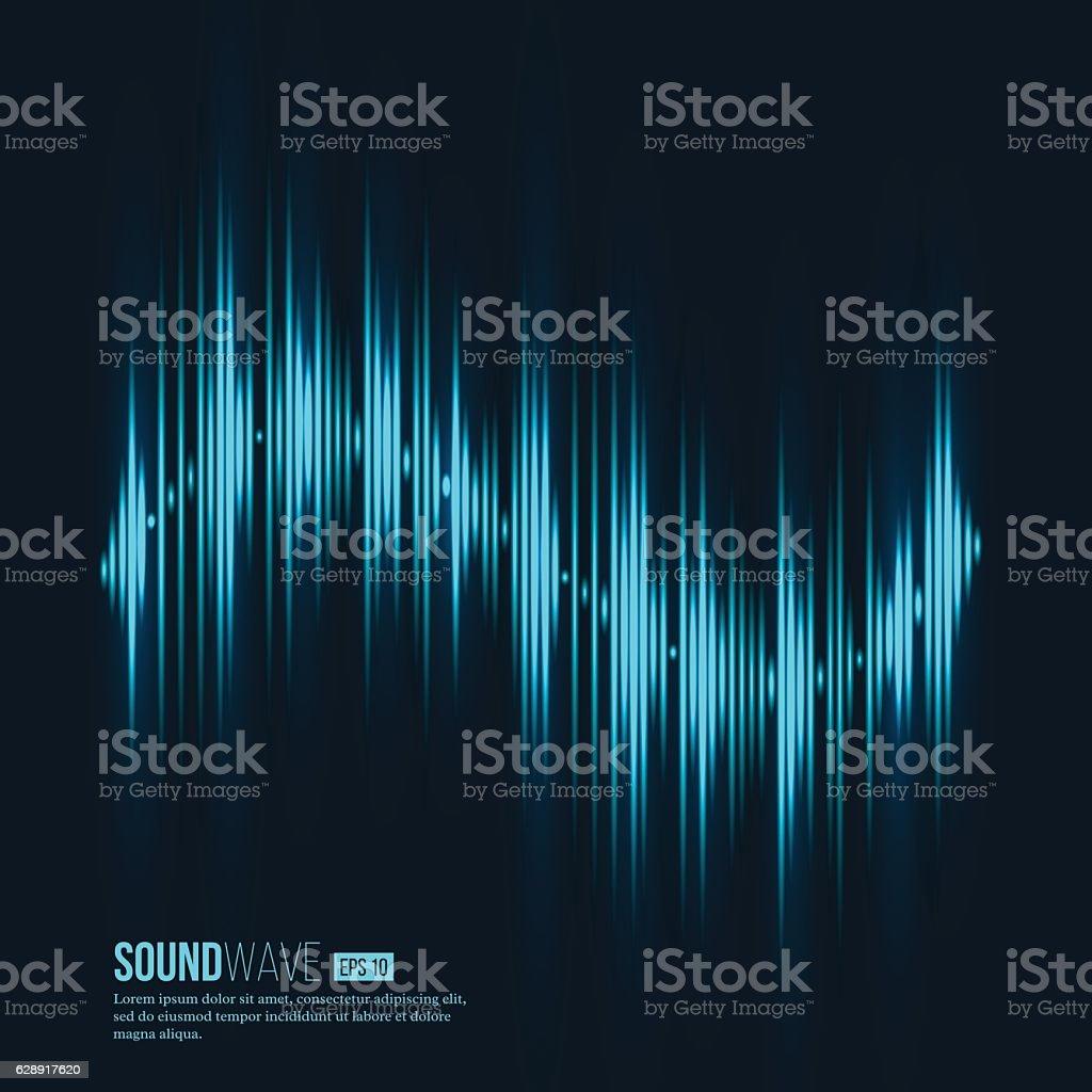 Digital equalizer. Sound wave. Vector illustration. vector art illustration