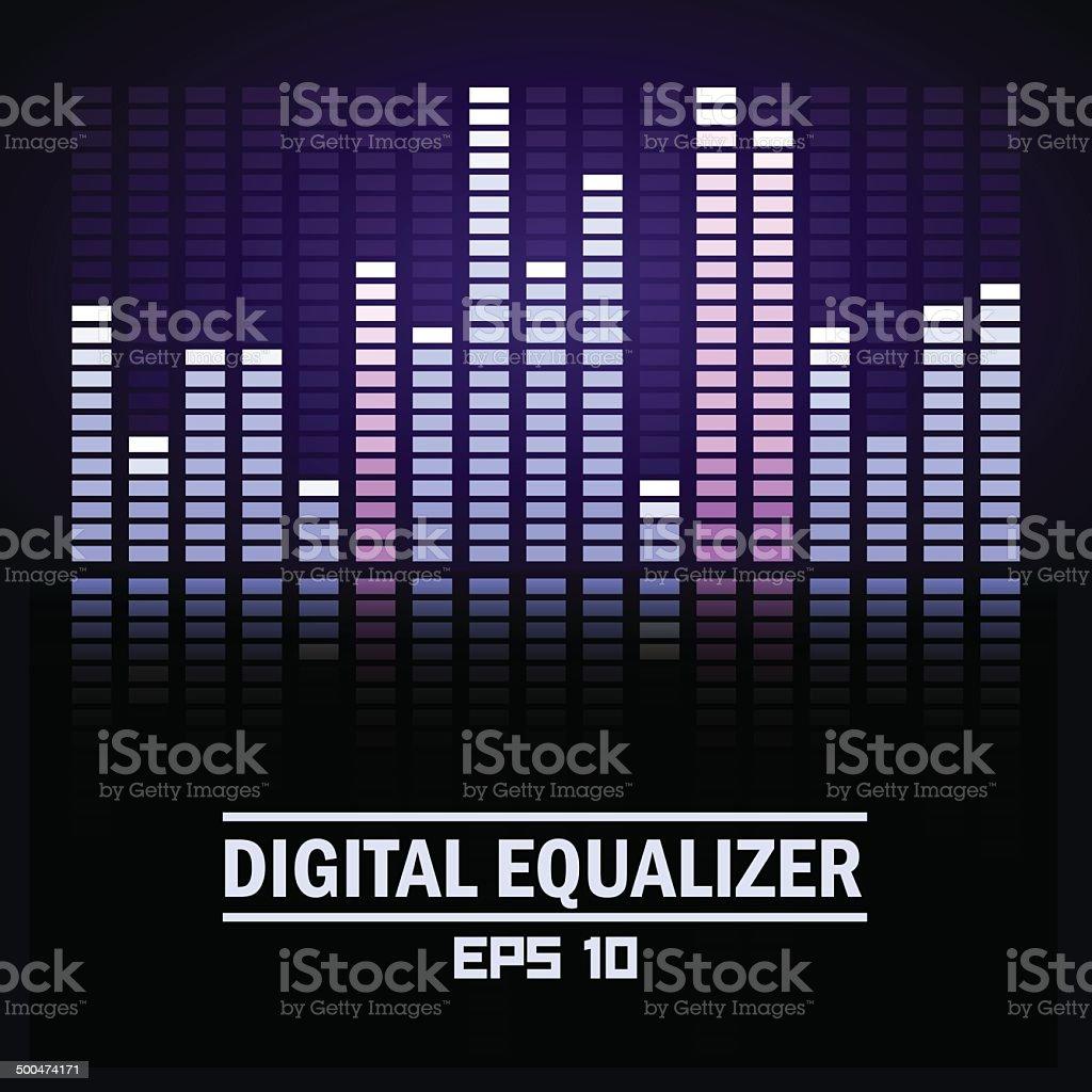 Digital equalizer. vector art illustration