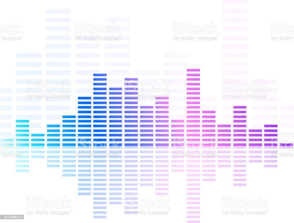 digital equalizer vector art illustration