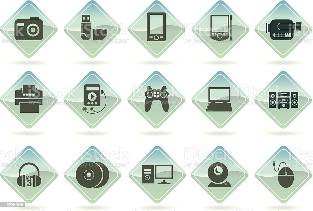 digital equipment 2 royalty-free stock vector art