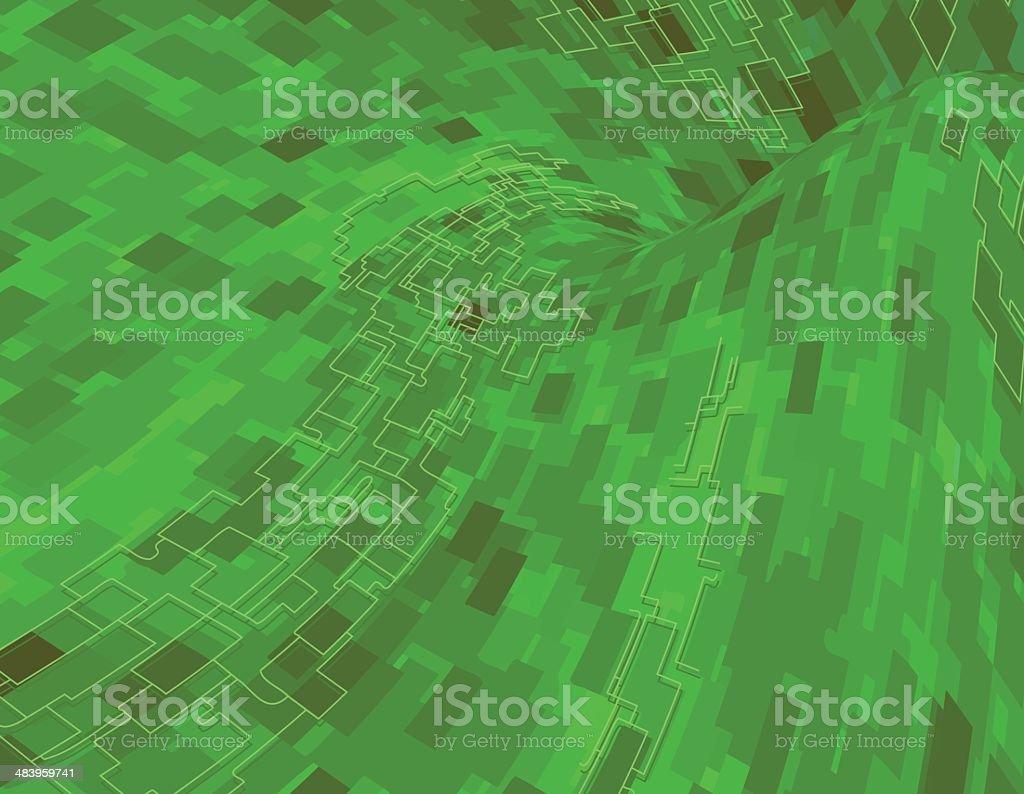 Digital Flow royalty-free stock vector art