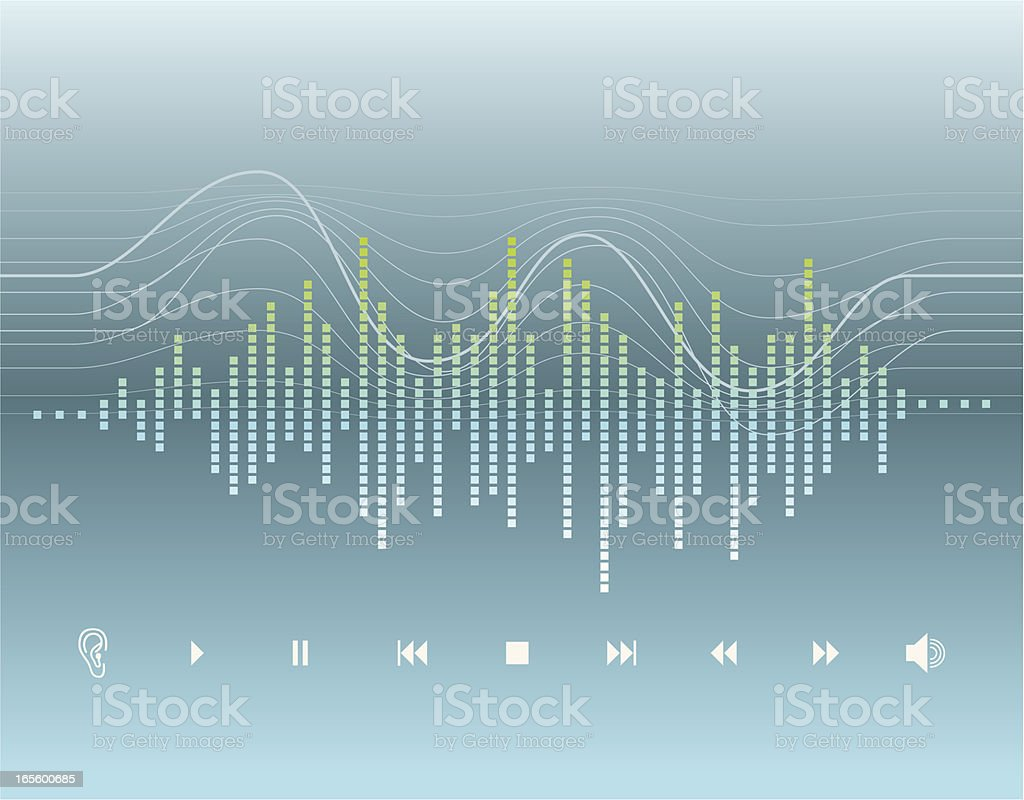 Digital Graphic - Sound Wave vector art illustration