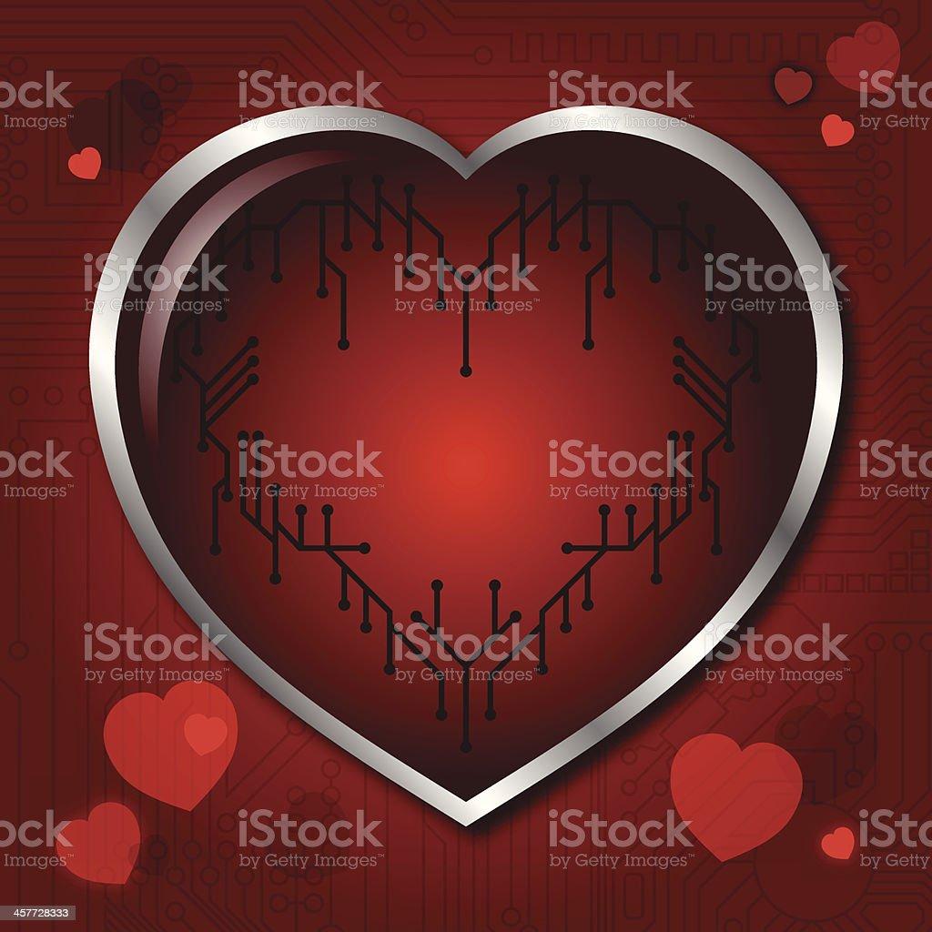 Digital heart royalty-free stock vector art