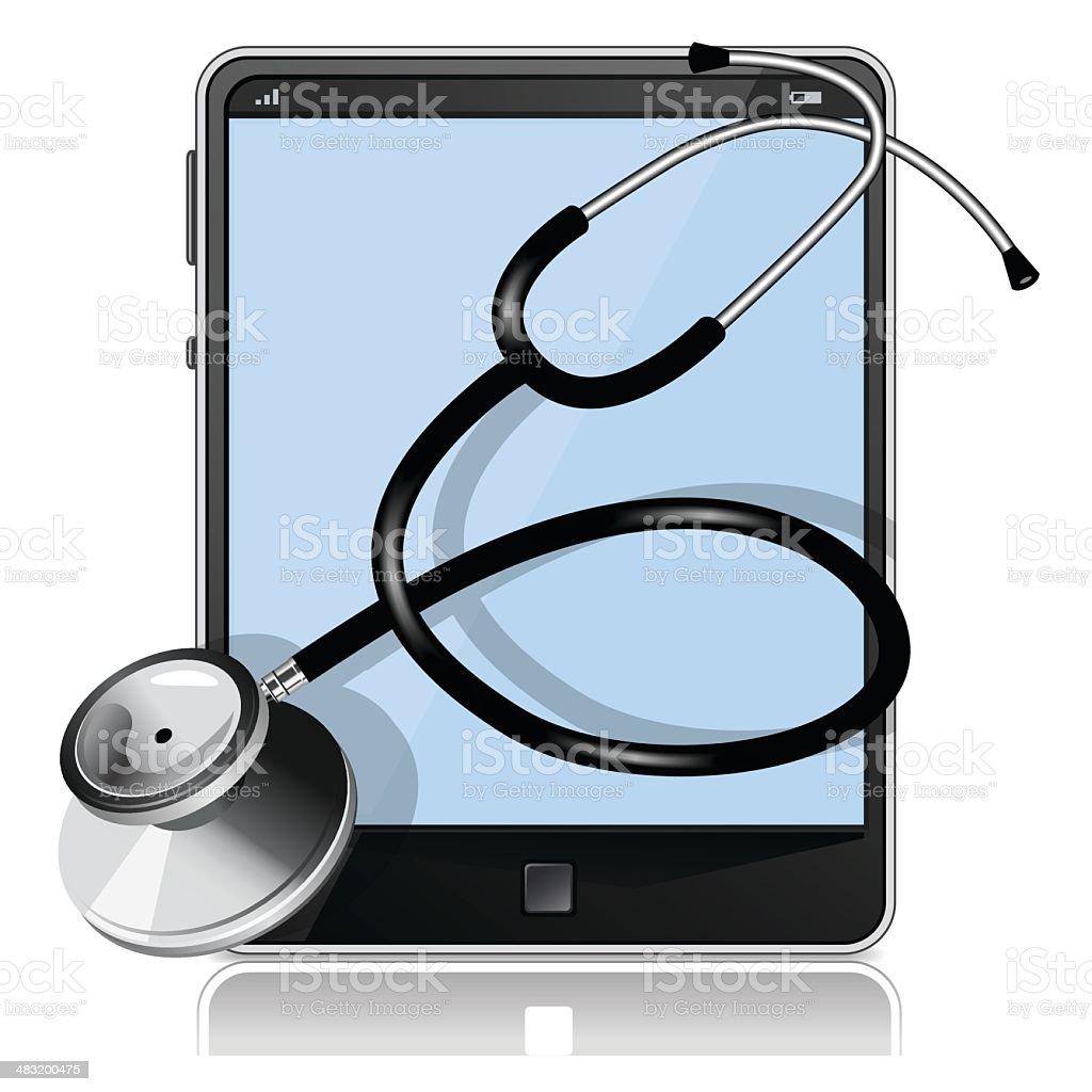 Digital Hospital vector art illustration