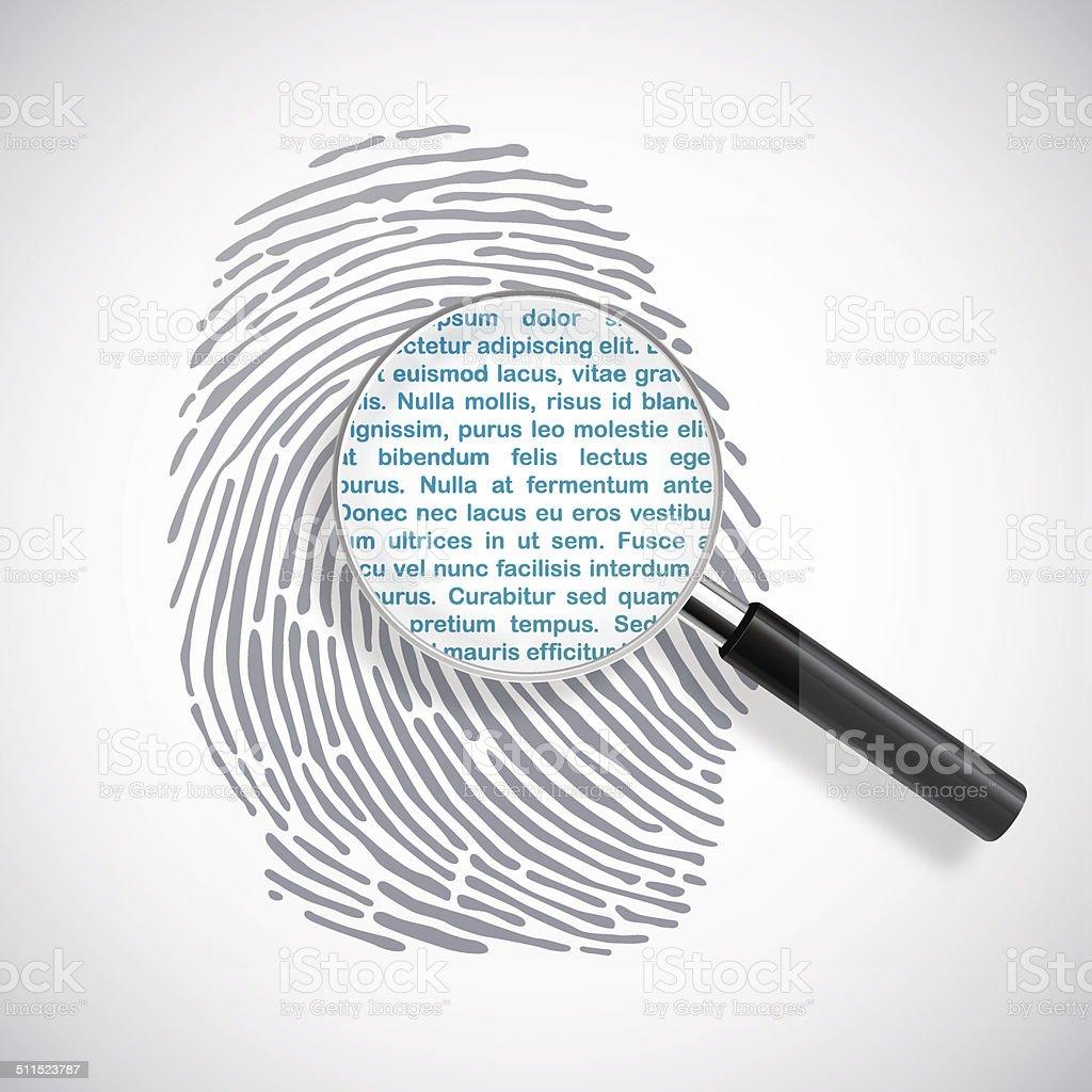Digital identity vector art illustration