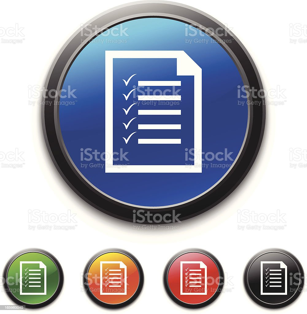 A digital image of a series of multicolored checklists royalty-free stock vector art