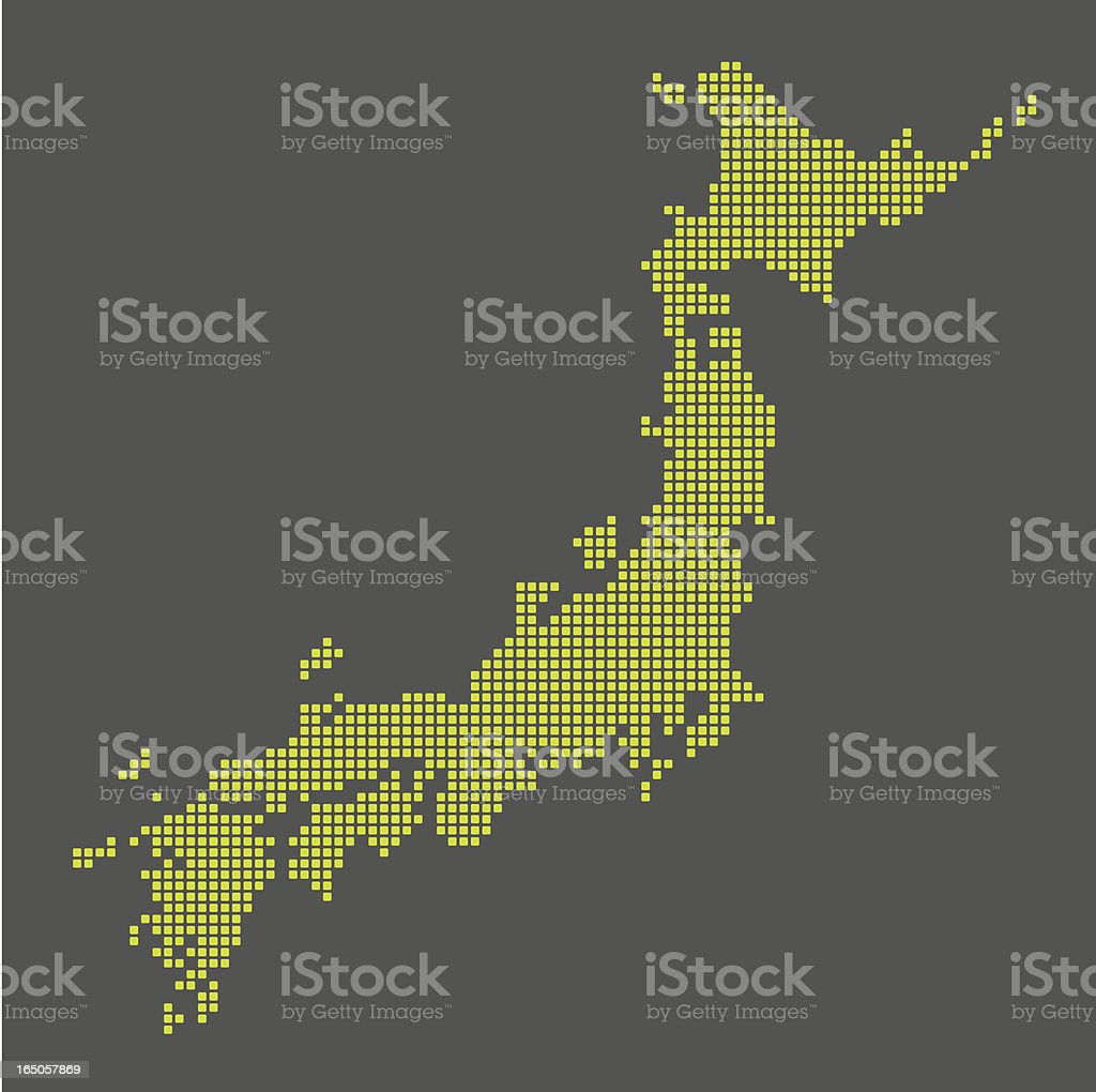 digital map of japan royalty-free stock vector art