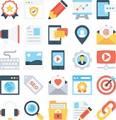Digital Marketing Colored Vector Icons 2