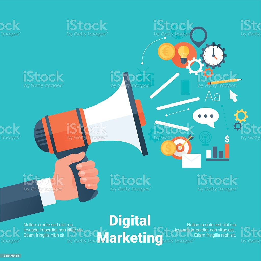 Digital Marketing Concept vector art illustration