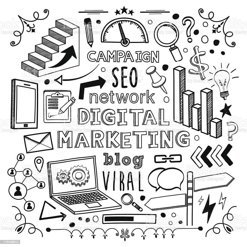 Digital Marketing royalty-free stock vector art