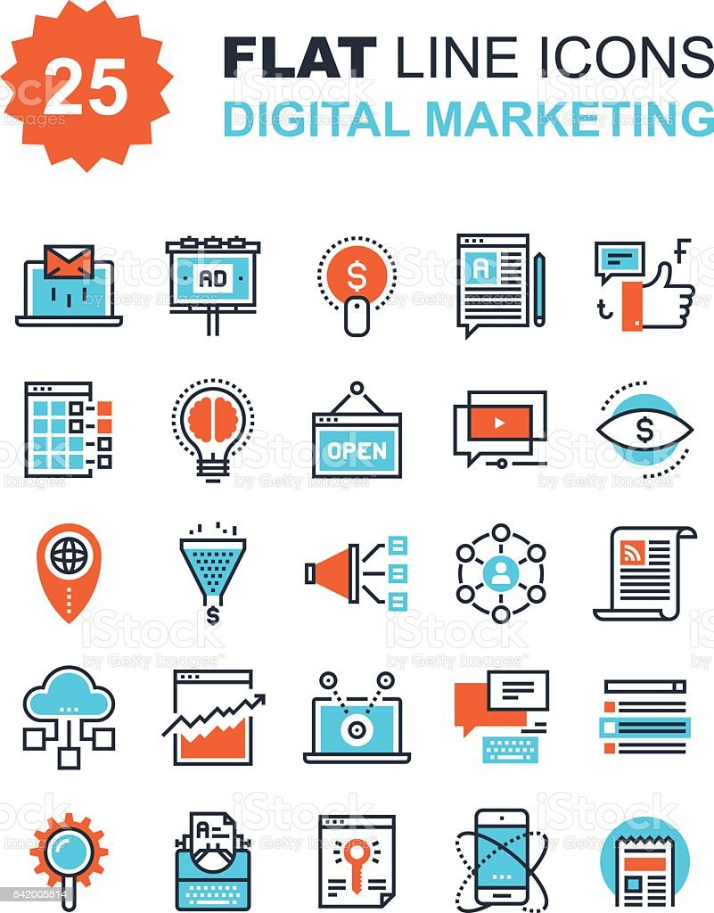 Digital Marketing vector art illustration