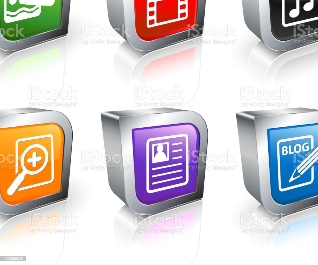 digital media 3D royalty free vector icon set royalty-free stock vector art