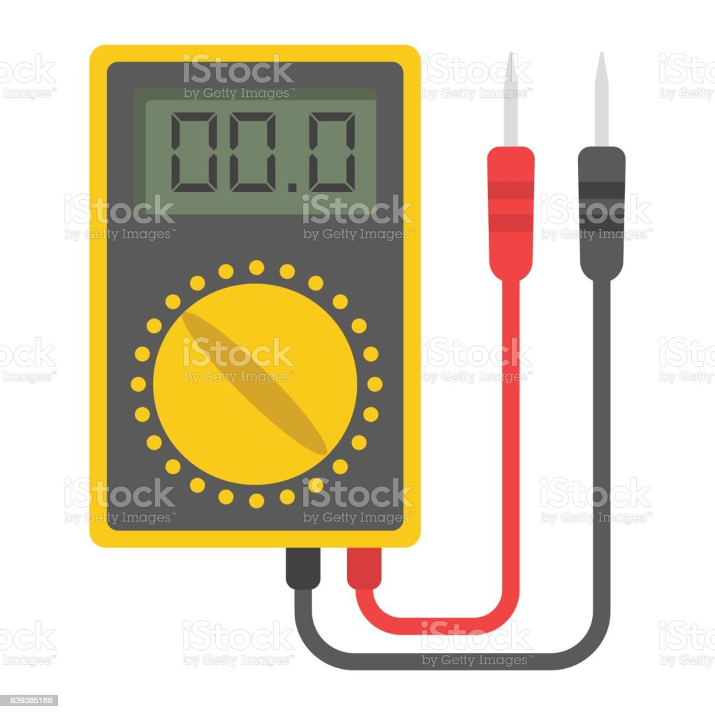 Digital multimeter flat icon, build and repair, electric volmeter sign vector graphics, a colorful solid pattern on a white background, eps 10. vector art illustration