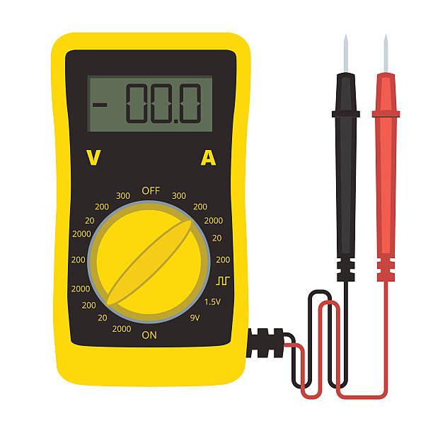 Multimeter Clip Art : Multimeter electronics test equipment clip art vector
