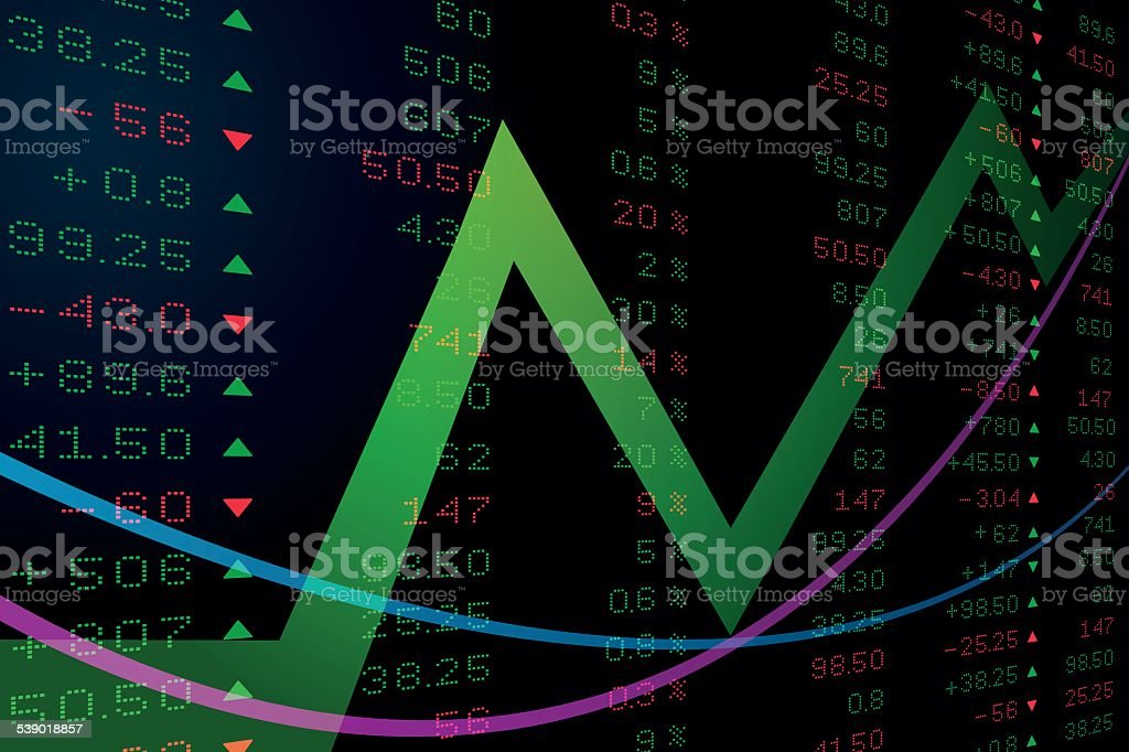 Digital number on stock price board royalty-free stock vector art