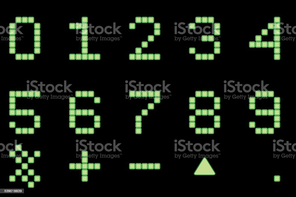Digital number royalty-free stock vector art