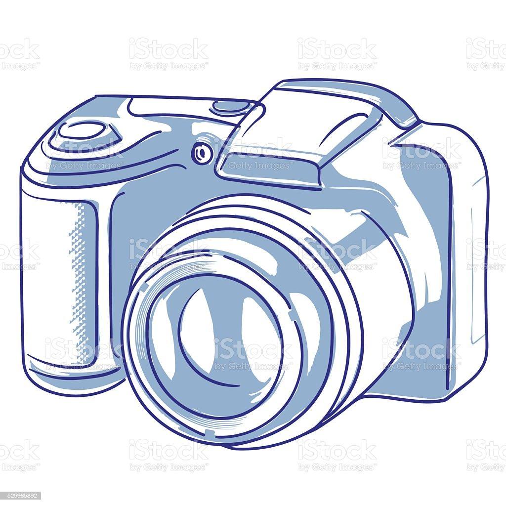 Appareil photo numérique stock vecteur libres de droits libre de droits