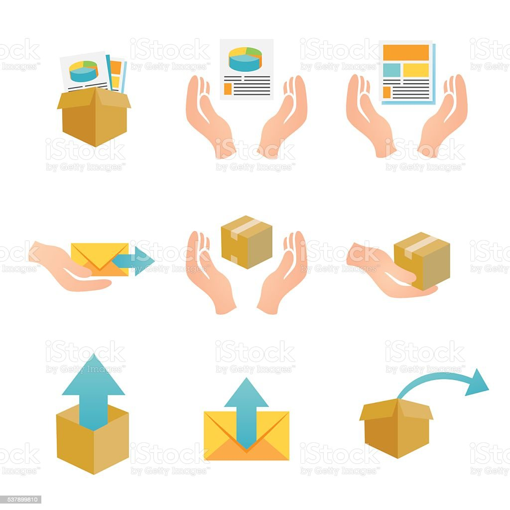 Digital Products Icons vector art illustration