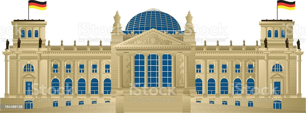 Digital render of The Reichstag building royalty-free stock vector art