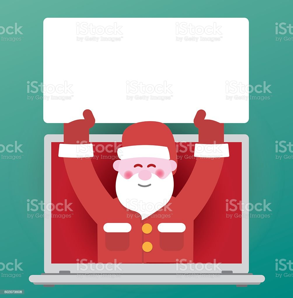 Digital Santa Claus vector art illustration