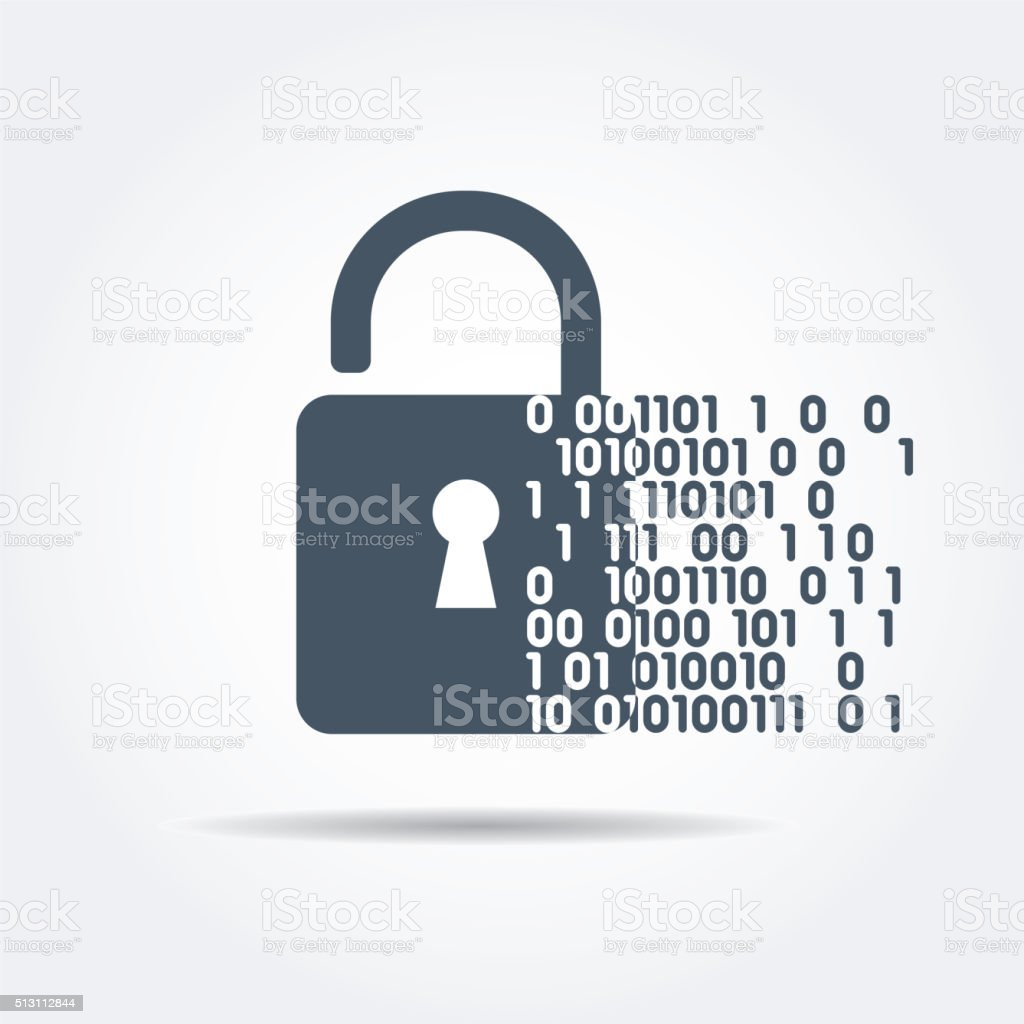 Digital security vector art illustration