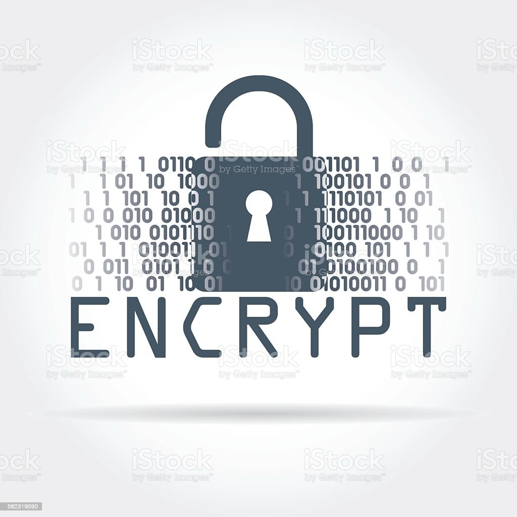 Digital security vector art illustration