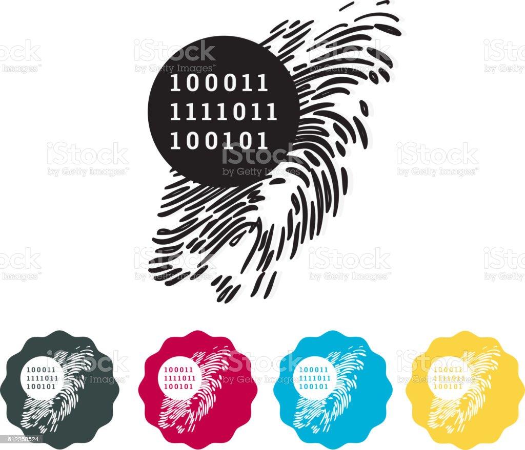 Digital Signature - Icon vector art illustration