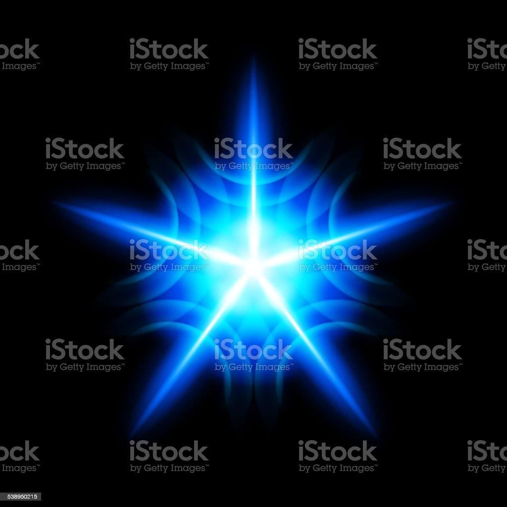 Digital star vector art illustration