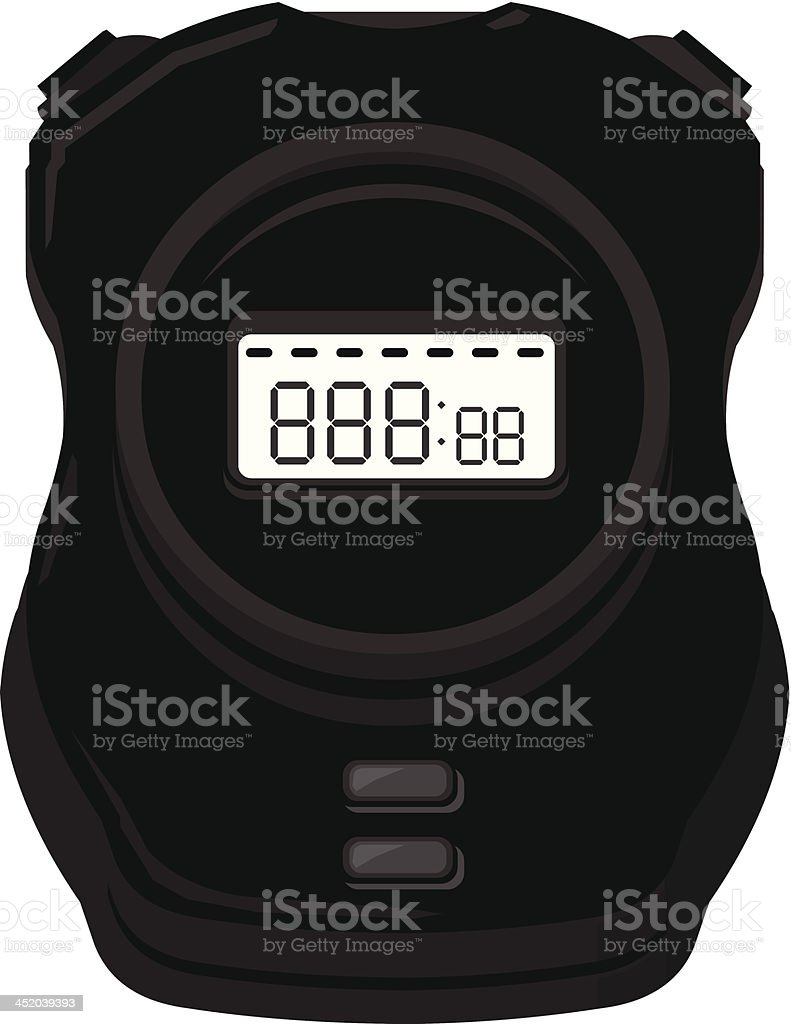 Digital Stopwatch Silhouette Icon royalty-free stock vector art