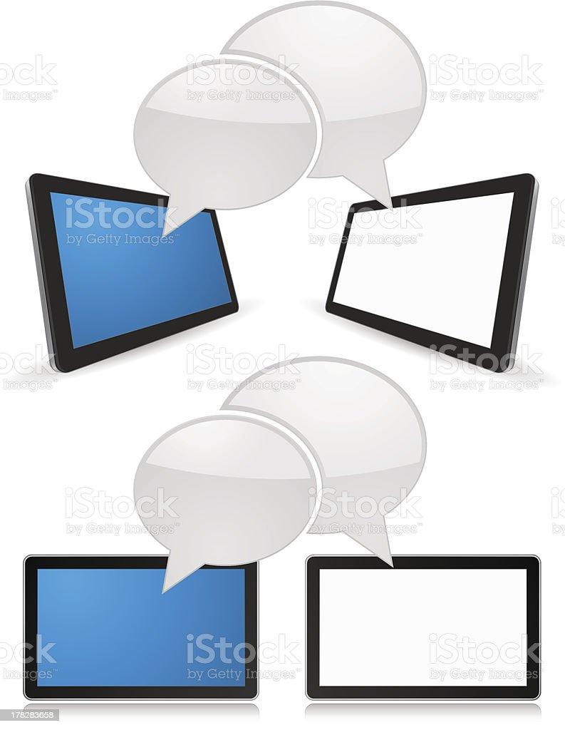 Digital tablet computer royalty-free stock vector art
