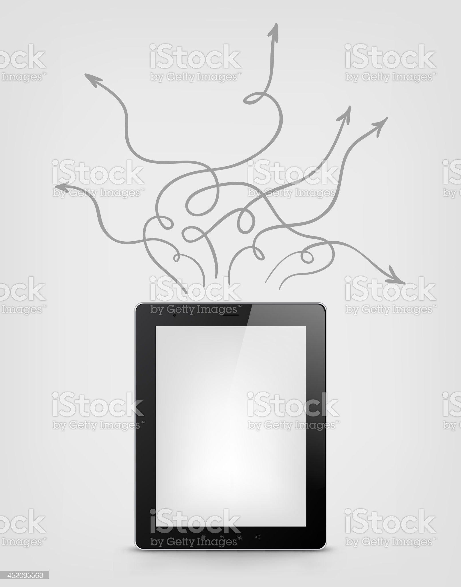 Digital Tablet Concept royalty-free stock vector art