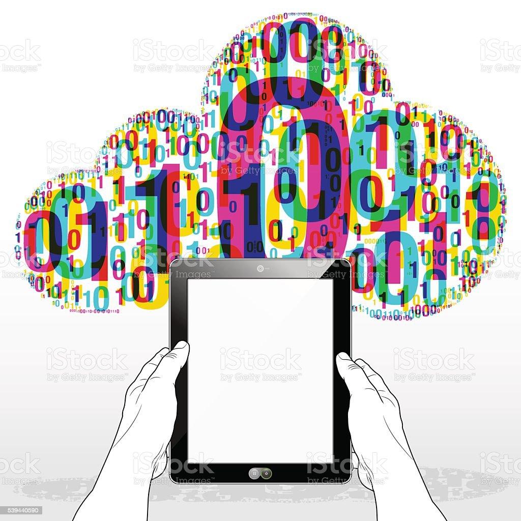 WWW Digital Tablet Connection vector art illustration