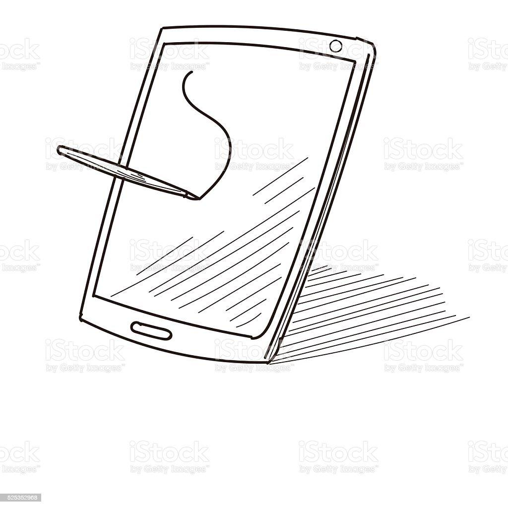 Digital Tablet vector art illustration