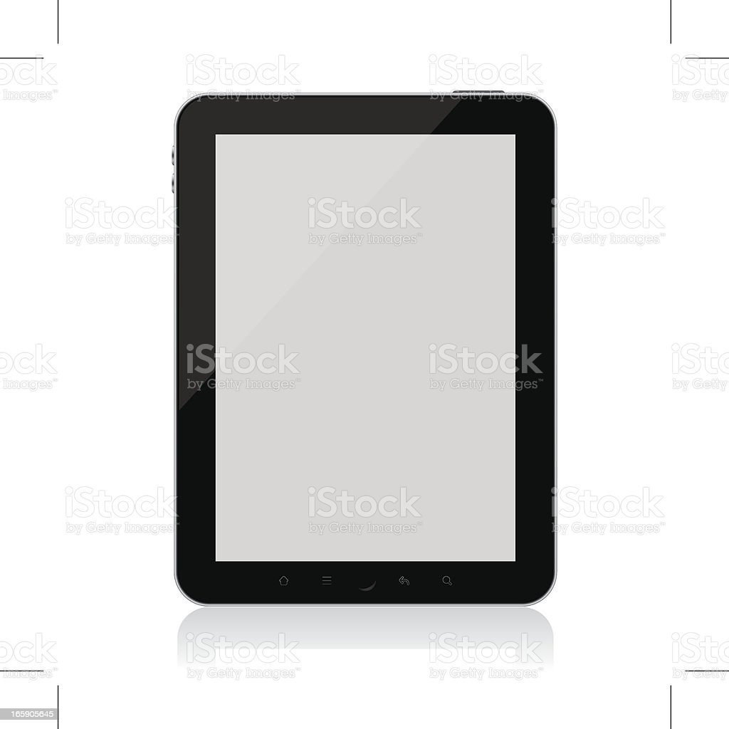 Digital Tablet with blank screen (Vector) royalty-free stock vector art