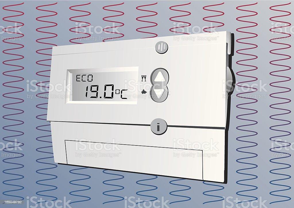 Digital Thermostat EU royalty-free stock vector art