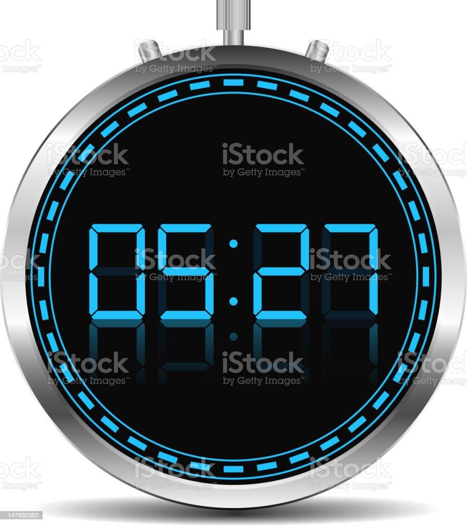 Digital Timer royalty-free stock vector art