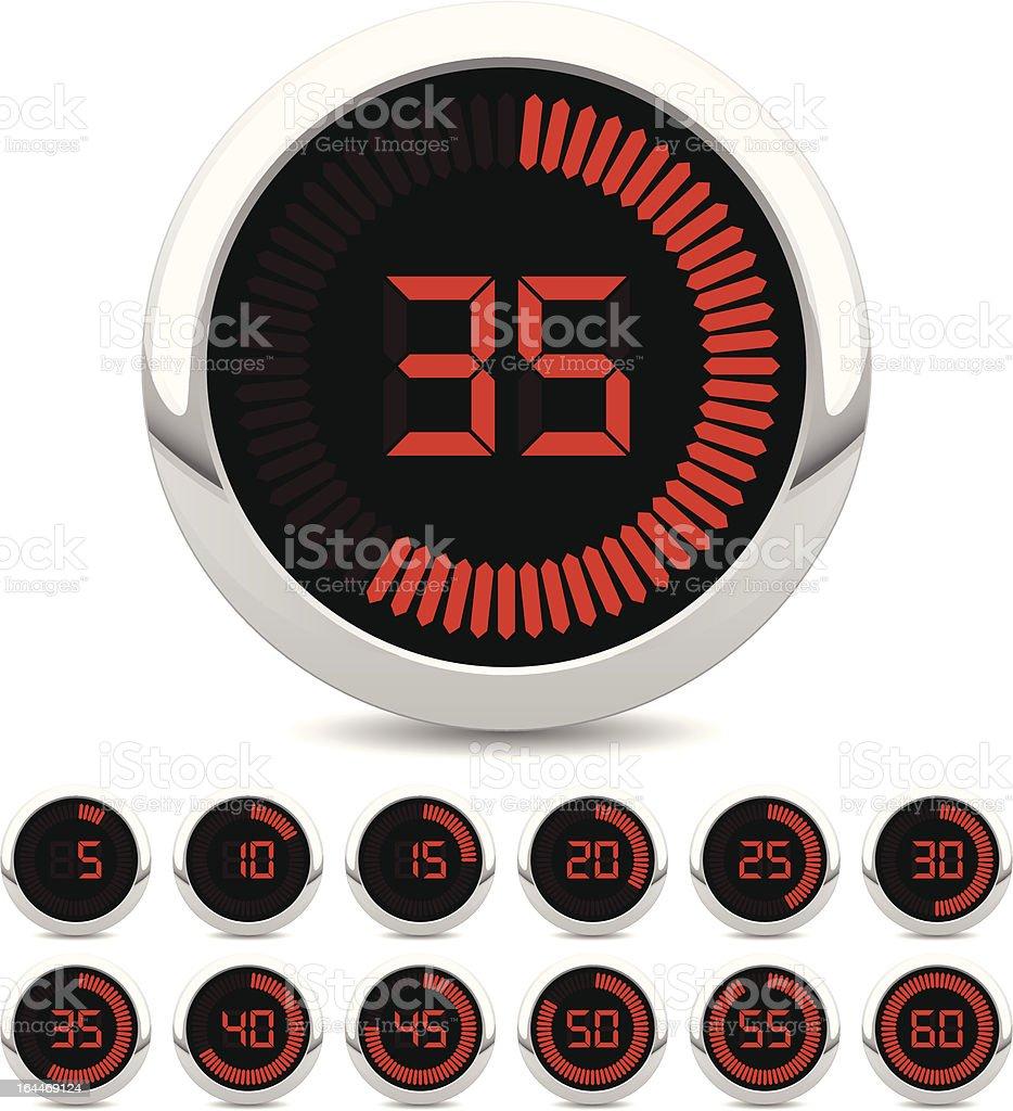 digital timer vector art illustration