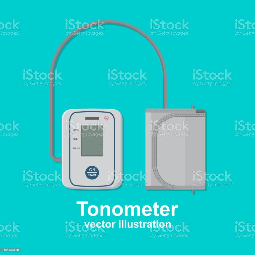 Digital tonometer vector art illustration