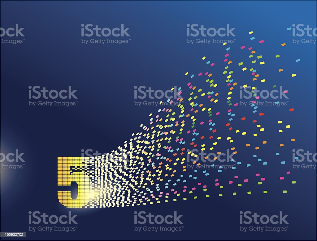 Digital Transformation Number Five royalty-free stock vector art