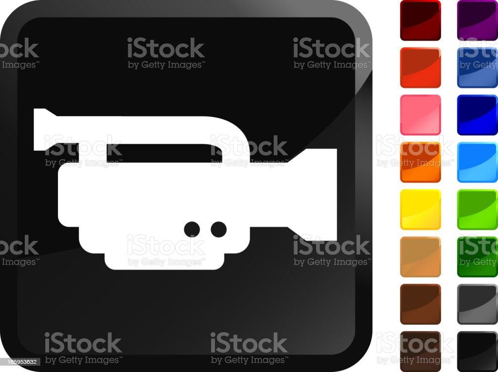 Digital Video Camera royalty free vector icon set stickers royalty-free stock vector art