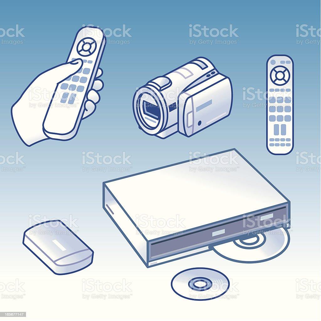Digital Video Technology vector art illustration