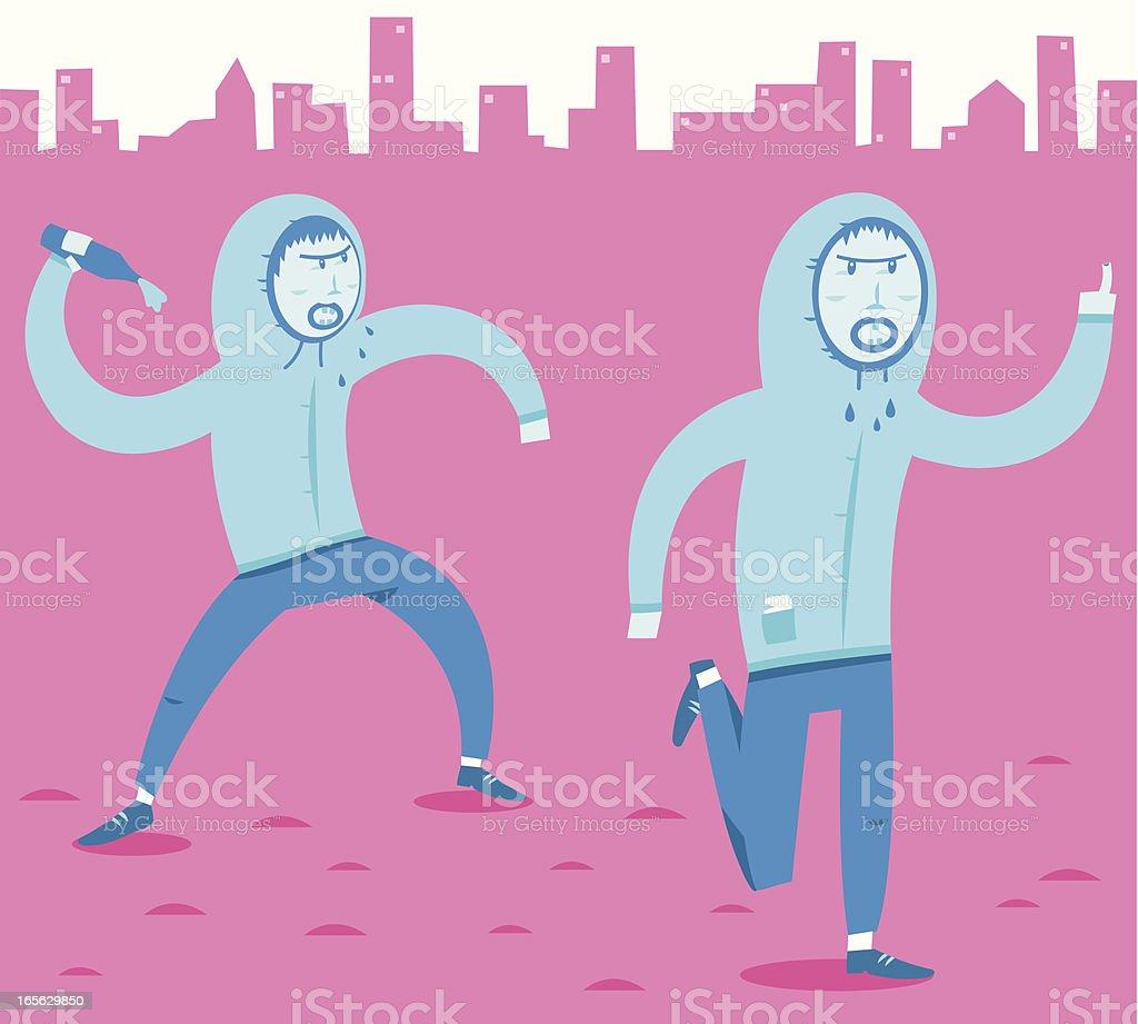 Diligent Delinquents vector art illustration
