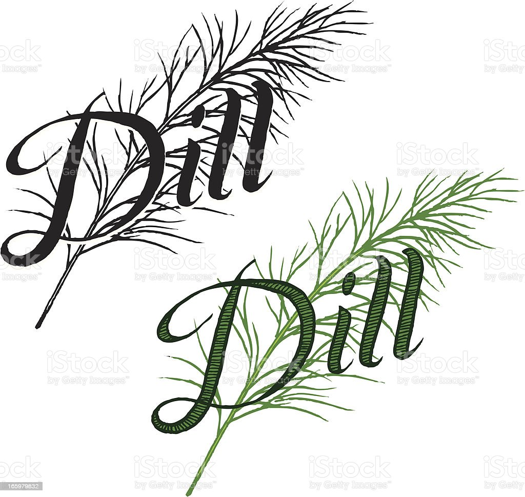 Dill with Text royalty-free stock vector art