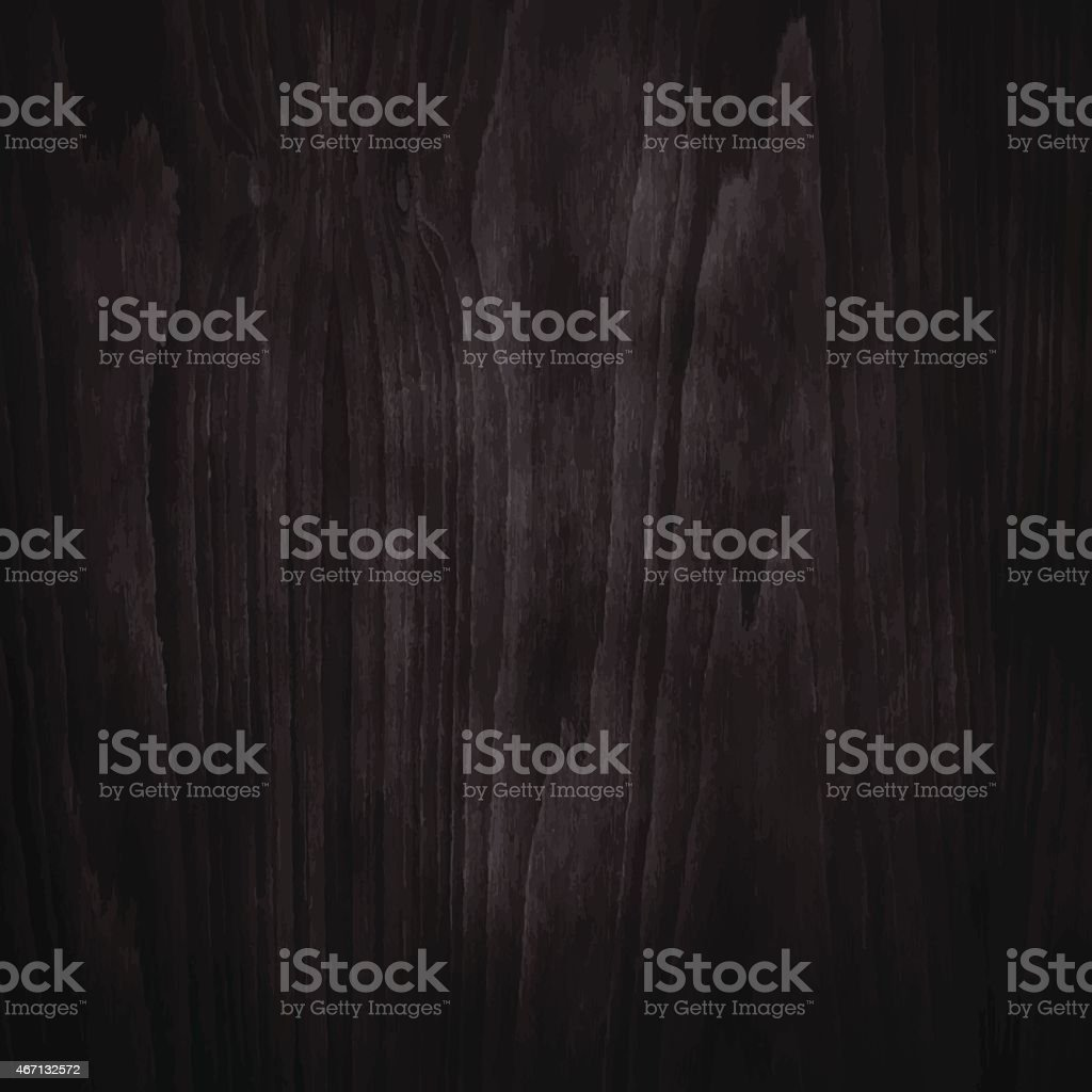 Dimly lit dark wood texture background vector art illustration
