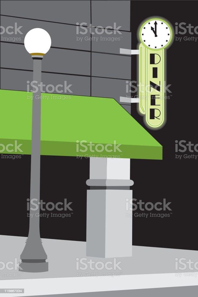 Diner Clock vector art illustration
