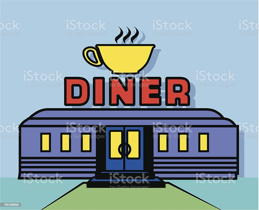 diner royalty-free stock vector art