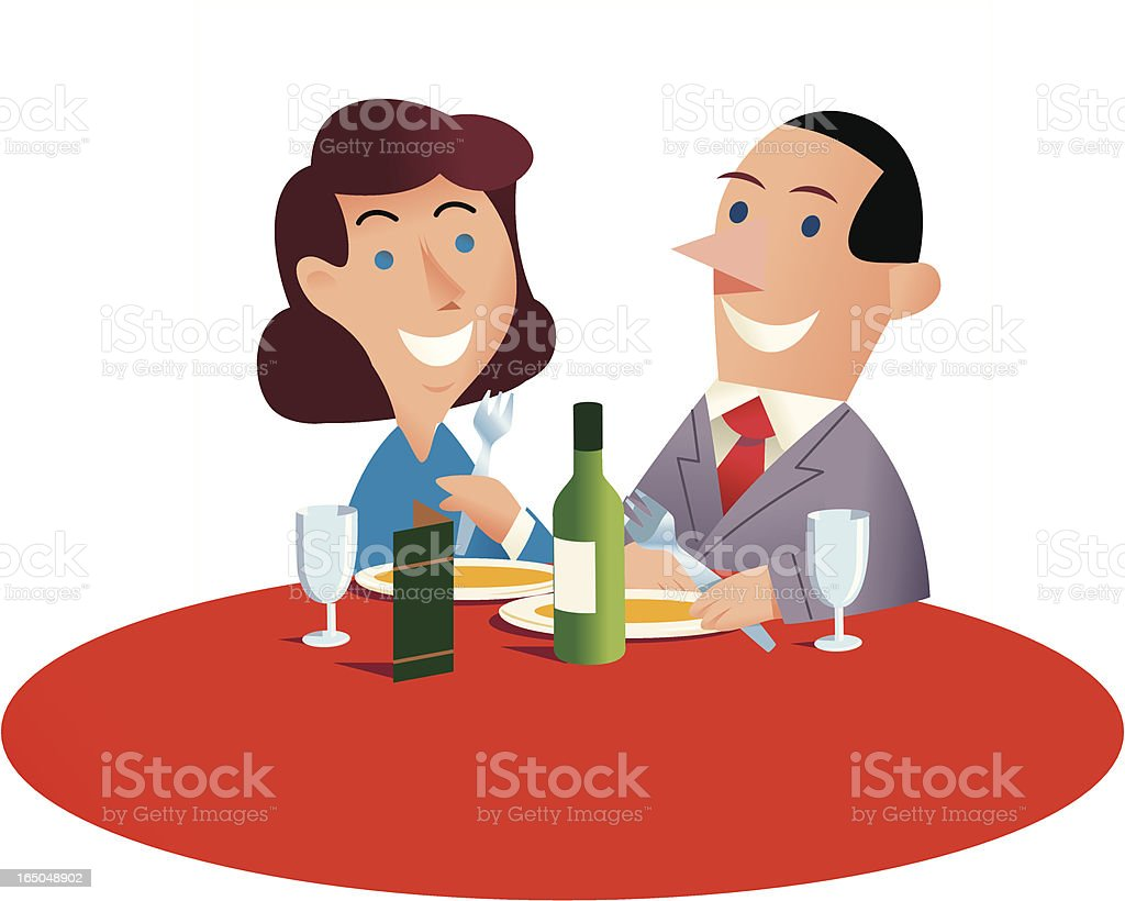 Diners royalty-free stock vector art