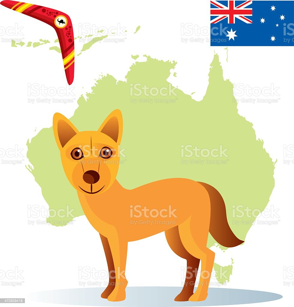 Dingo royalty-free stock vector art