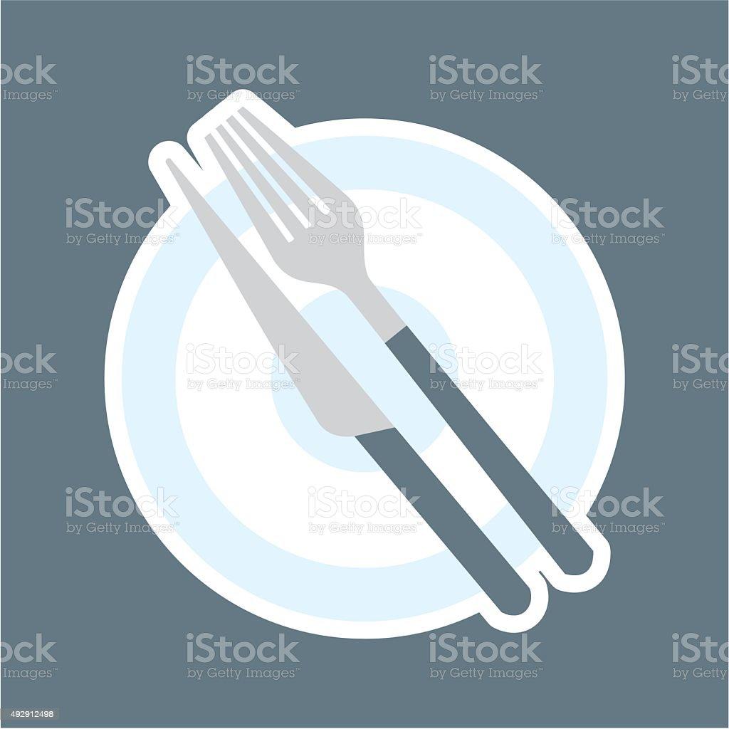 dinig set, finish vector art illustration