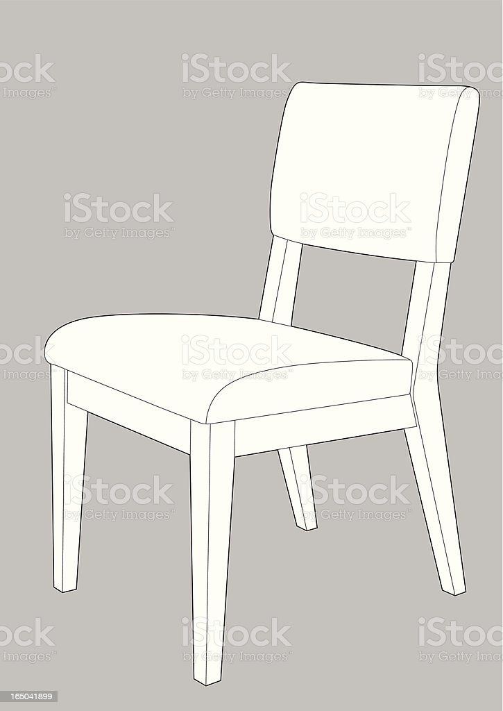 Dining Chair royalty-free stock vector art